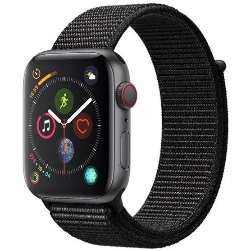 refurbished apple watch series 4 black sports loop cellular space grey