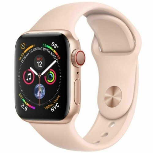 refurbished apple watch series 4 pink sports band gold cellular