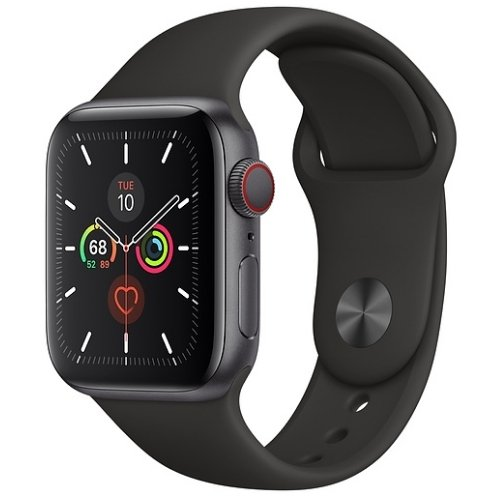 refurbished apple watch series 5 space grey black sports band cellular