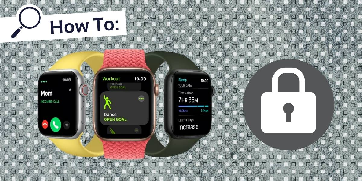 How to lock apple watch